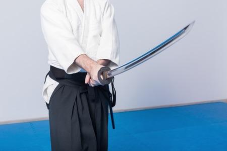 A man on iaido practice