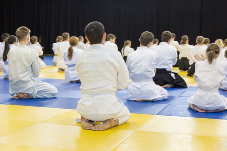People practice Aikido