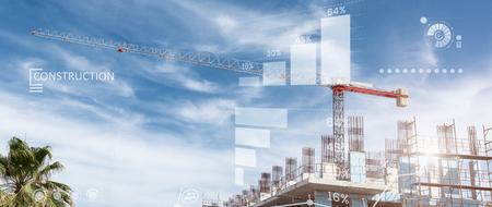 Costruzioni sito collage di un nuovo edificio