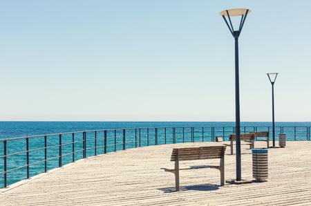 Seafront promenade of Limassol. Cyprus Stock Photo