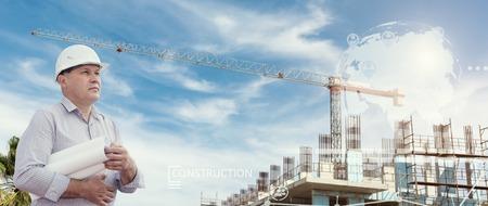 Industrial collage with charts Zdjęcie Seryjne