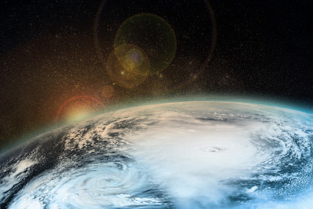 A hurricane on the Earth. Elements of this image furnished by NASA. Imagens