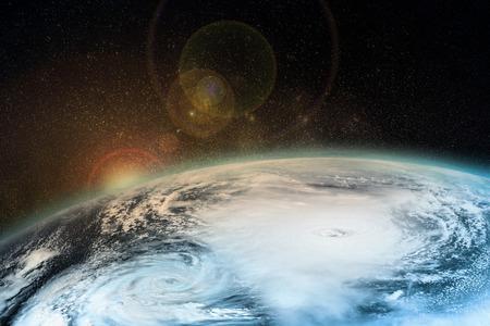 Een orkaan op aarde. Elementen van deze afbeelding geleverd door NASA.