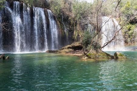 Kursunlu Waterfalls in Antalya, Turkey. Kursunlu selalesi Stok Fotoğraf
