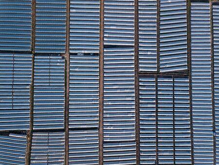 Photo aérienne de serres prise d'en haut Banque d'images
