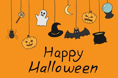 Happy Halloween characters illustration. Halloween holiday Standard-Bild - 132449484