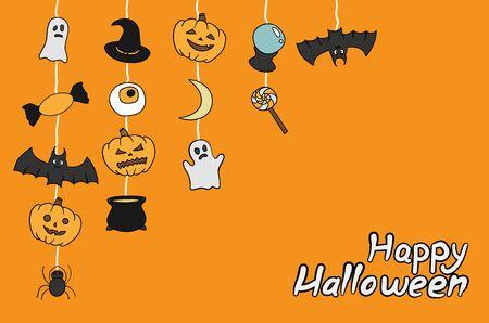 Happy Halloween characters illustration. Halloween holiday Standard-Bild - 132449339