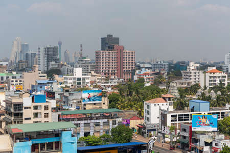 Panorama of Colombo city of Sri Lanka. January, 2020