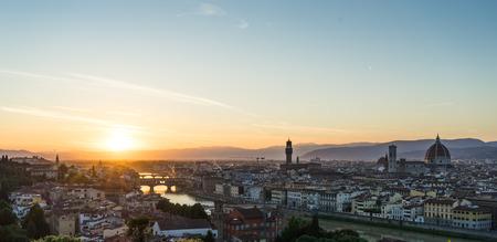 setting  sun: Florence under the setting sun