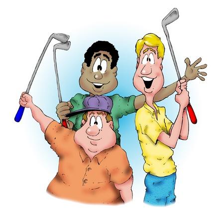 幸せなゴルファー