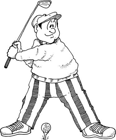티샷을하려고하는 골퍼의 이미지.