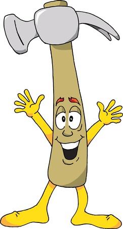 Cartoon of a Happy Hammer Stock Vector - 9321533