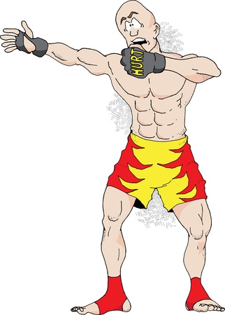 An illustration of a Mixed Martial Arts Fighter Çizim