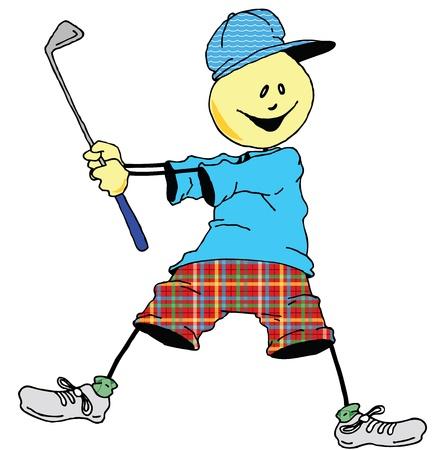 Sweevies ゴルファー スイングしよう。  イラスト・ベクター素材