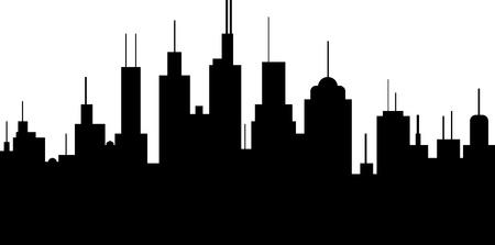 一般的な街のスカイラインのベクトル イラスト  イラスト・ベクター素材