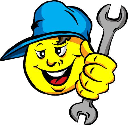 自動車修理店のロゴ イラスト
