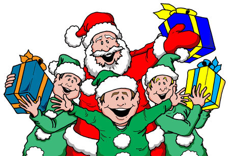 5,764 Santa S Elves Stock Vector Illustration And Royalty Free ...