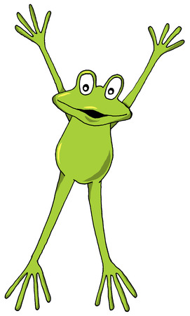 frog green: Vector cartoon of a Leaping Frog