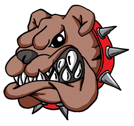 Vector Cartoon of a Cartoon Bulldog Face