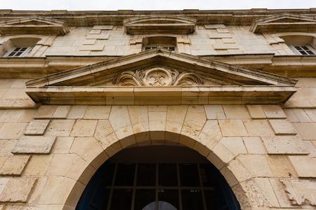royale: vista de cerca del monumento hist�rico royale corderie en la ciudad de Rochefort Charente regi�n mar�tima de Francia