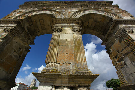 germanic: Germanic roman arch of the ville of Saintes in french charente maritime region