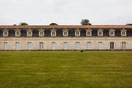 royale: Una secci�n del monumento hist�rico royale corderie en la ciudad de Rochefort Charente regi�n mar�tima de Francia