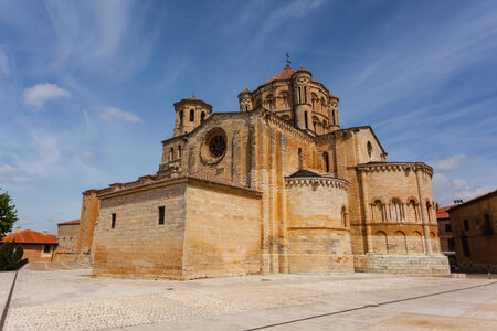 zamora: General view of Toro great romanesque collegiate church in Zamora ,Spain