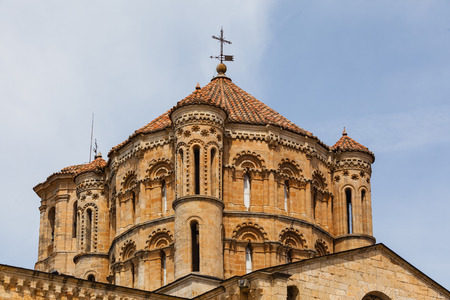 zamora: Closeup view of great romanesque dome in the Collegiate Church in the town of Toro , Province of Zamora , Spain