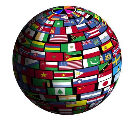 kwadrant: Flagi wszystkich narodów pokrycie powierzchni ziemi.