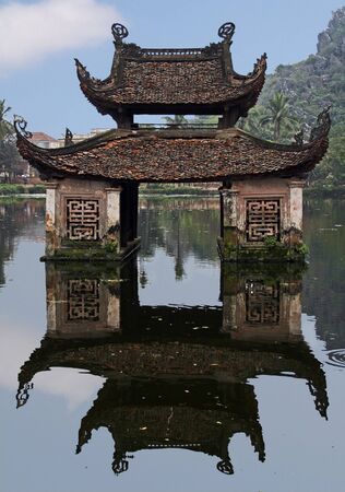 its: Water temple and its reflection