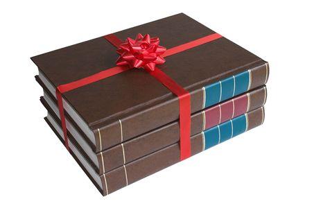 Three gift-bound books Banco de Imagens