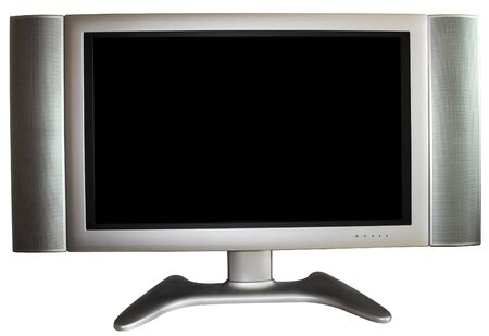 High-Definition TV with black screen