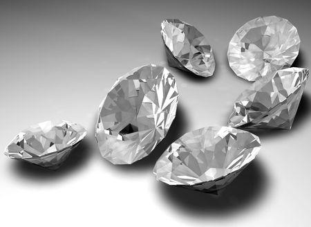 caustic: Unmounted diamond gemstones