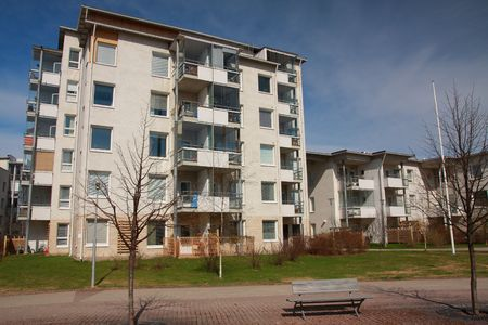 block of flats: Contemporary block of flats with balconies