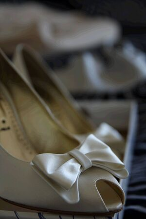 Wedding shoes and dress before  the wedding Stock Photo - 3280686