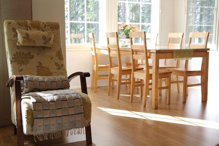 Inter of a home, armchair and dining room Stock Photo - 3493091