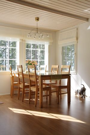 Interior of a home, dining room and  photo