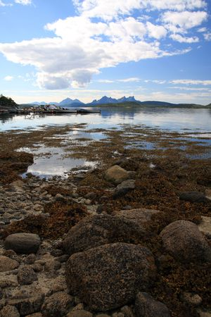 Norway scenery with beautiful mountains and sea Stock Photo - 3650835