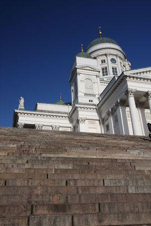 lutheran: Tuomiokirkko, the Lutheran Cathedral in Helsinki Finland Stock Photo