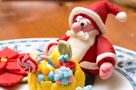 pastes: Santa Claus sugar pastes Stock Photo