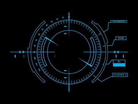Interface utilisateur futuriste HUD