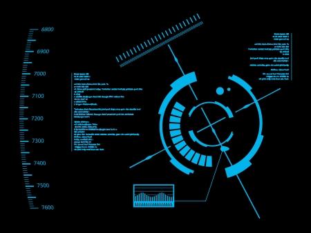 футуристический: Футуристический пользовательский интерфейс HUD