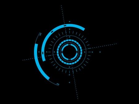 futuristic: Futuristic user interface HUD