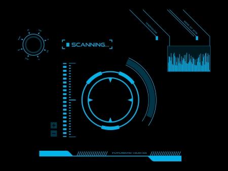 Futuristic user interface HUD Фото со стока - 25312830