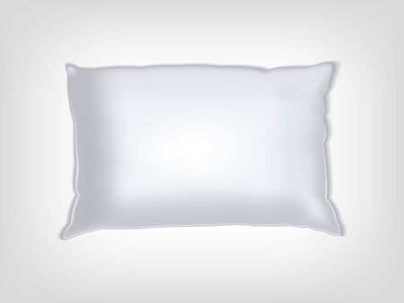 texturing: Clean white vector pillow mockup for texturing and patterns