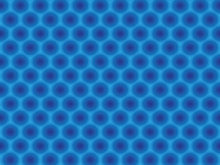 Blue circular cell hypnotic scalable pattern wallpaper Vector