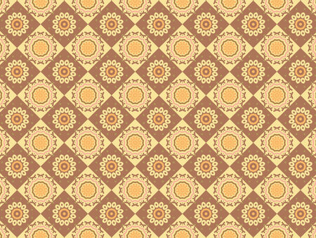 scalable: Scalable Indian Brown Coffee and Milk Rhombus Pattern
