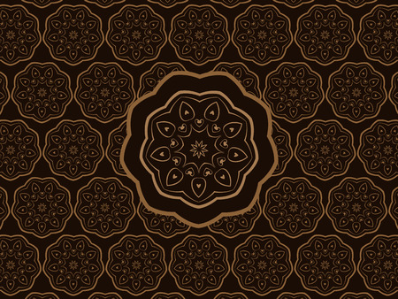 scalable: Oriental Brown Ornament Scalable Vector Wall Pattern Illustration