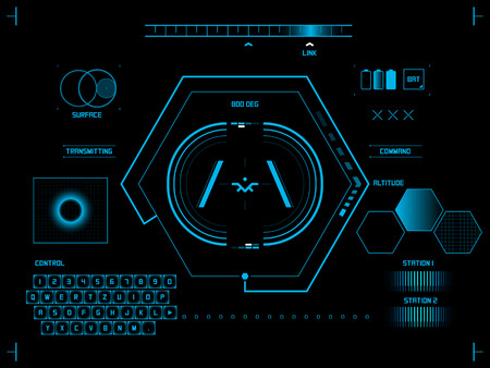 toque: Futuro azul interface de usu
