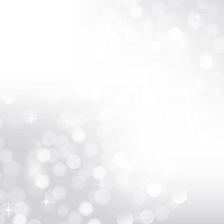 Silver bokeh background lights for postcard Фото со стока - 27449500